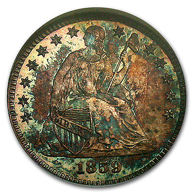 Click now to see the BUY IT NOW Price! 1859 LIBERTY SEATED HALF DIMEPF 65 NGC   SKU 103632