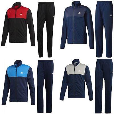 adidas Trainingsanzug Männer Sportanzug Jogginganzug schwarz blau rot Herren cd6530cf2fa9b