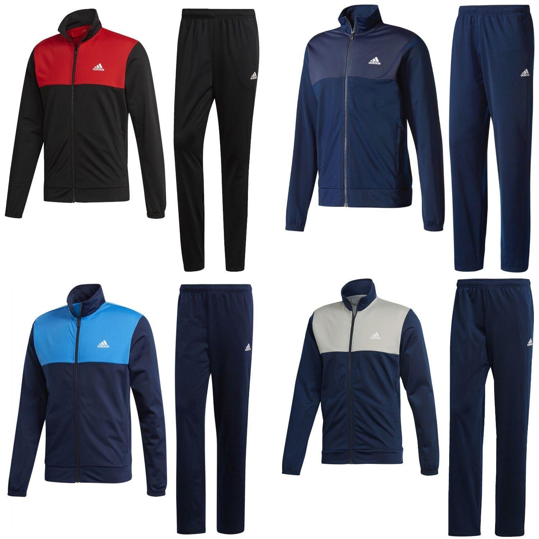 adidas Trainingsanzug Männer Sportanzug Jogginganzug schwarz blau rot Herren