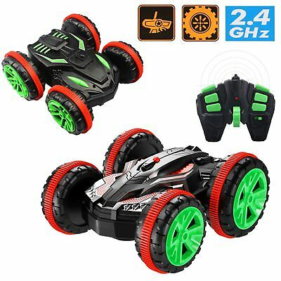 Remote Control Amphibious Off Road Electric Double Sided  Stunt Car X Knight Rc