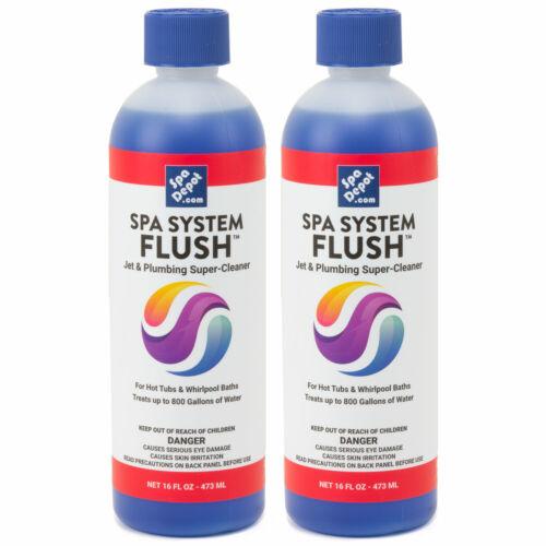 Spa System Flush Hot Tub Jet & Plumbing Super Cleaner & Purge - 2 x 16oz Bottles