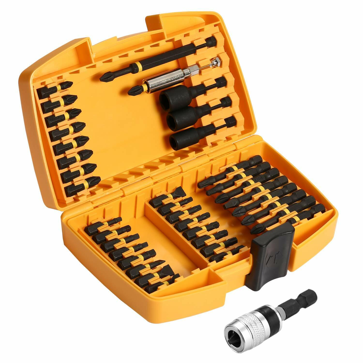 DEKO 40 Piece Screwdriver Bit Set Magnetic Impact Driver Bit