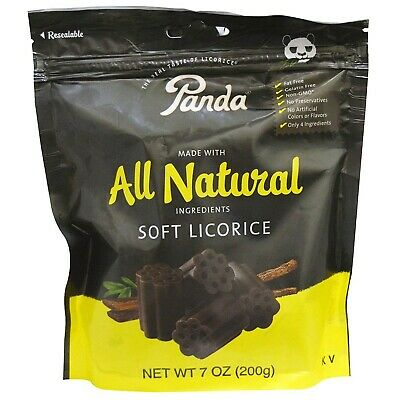 Panda All Natural Soft Licorice, 7 Oz. (Pack of 2 ) 7 Ounce (Pack of 2)