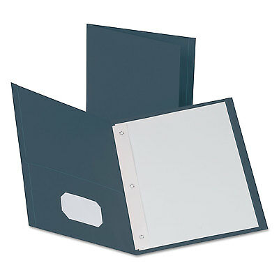Oxford Twin-pocket Folders With 3 Fasteners Letter 12 Capacity Dark Blue 25