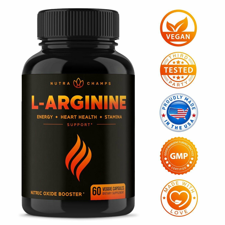 Suplemento de óxido nítrico de arginina Premium L Fuerza adicional para hombres
