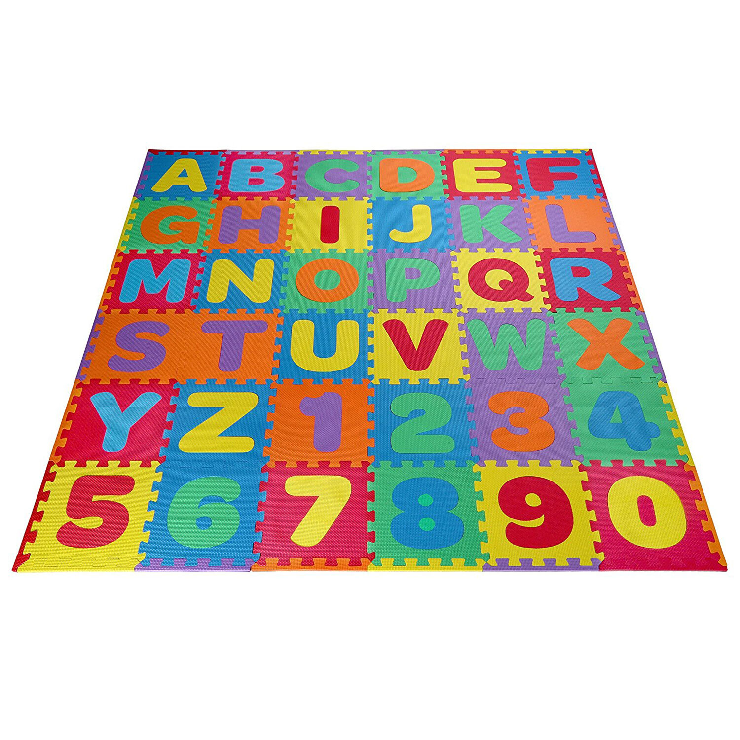 Kids Foam Floor Puzzle Play Mat Gym Toy 36 Pcs ABC Numbers B