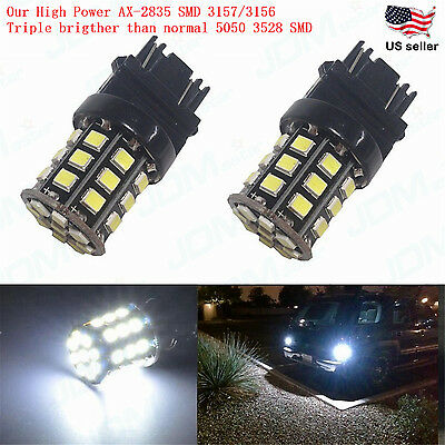Jdm Astar 3157 3156 White Ax 2835 Smd Car Turn Signal Tail Brake Light Led Bulbs
