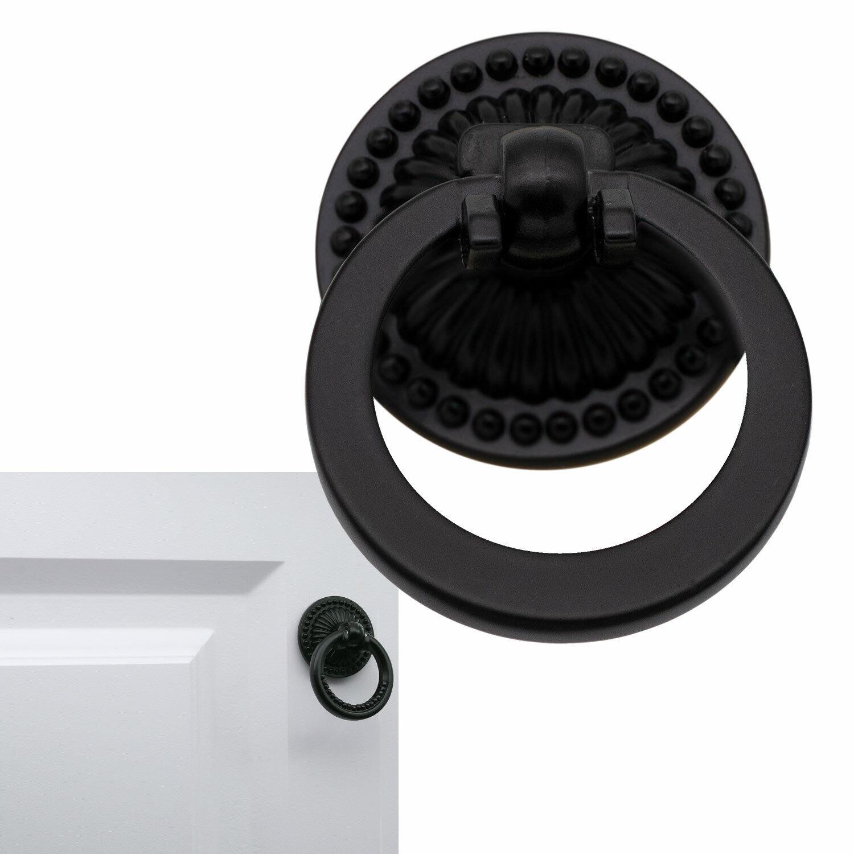 Matte†Flat Black Cabinet Hardware Ring Furniture Pull Replacement Vintage, 1.5″ Building & Hardware