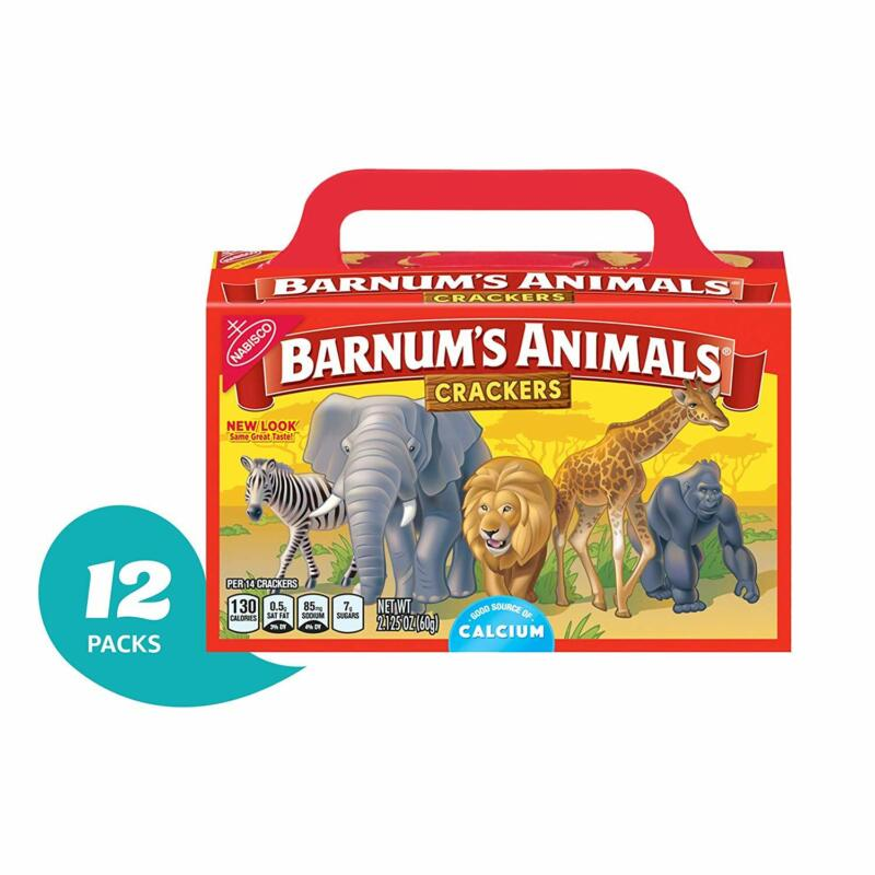 Barnum's Animal Crackers - 12 Individual Snack Pack Boxes Go