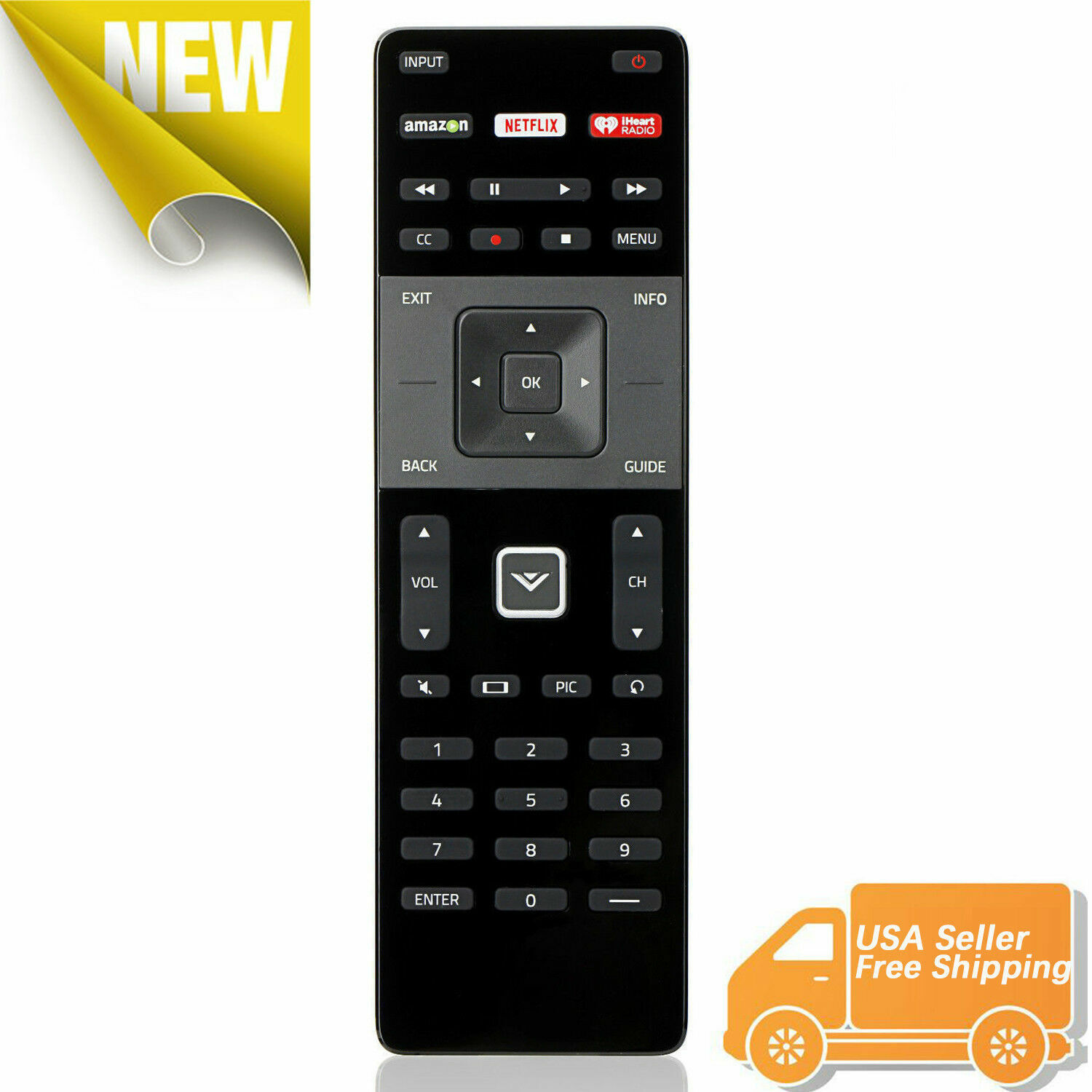 New Replaced XRT122 Smart TV Remote For Vizio Amazon/Netflix/iHeart/ Home Key Consumer Electronics