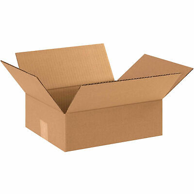 12 X 10 X 4 Flat Cardboard Corrugated Boxes 65 Lbs Capacity Ect-32 Lot Of