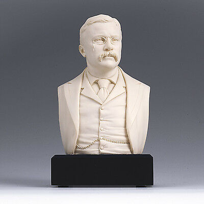Theodore Roosevelt Bust Statue Sculpture GREAT AMERICANS