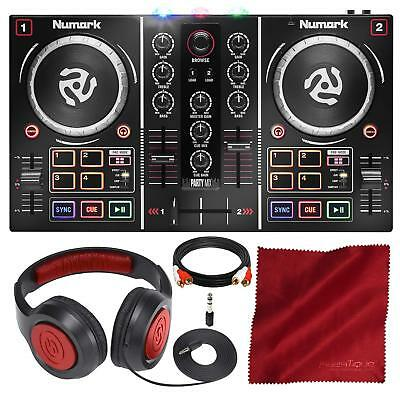 Numark Party Mix DJ Controller with Built-In Light Show and Headphones Accessory for sale  Shipping to South Africa