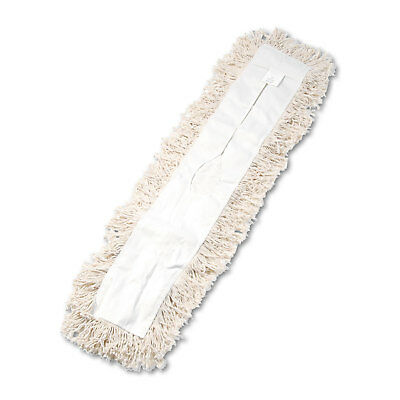 Boardwalk Industrial Dust Mop Head Hygrade Cotton 36w X 5d White 1336