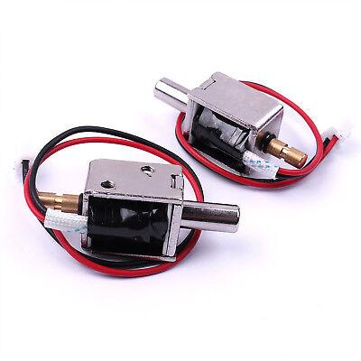2pc Dc12v Mini Electric Bolt Lock Small Cabinet Lock Solenoid Lock 20 X 16 X15mm