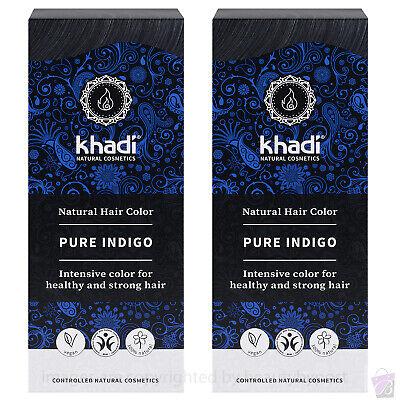 Pure Natural BOTANICAL DYE Khadi Herbal Hair Colour PURE INDIGO PACK OF 2