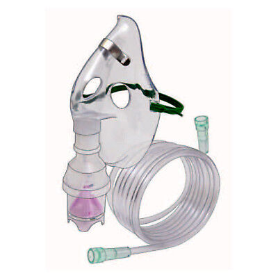 5 NEW ADULT Aerosol Nebulizer Masks with Nebulizer Kits Includes Tubing, Med Cup - Nebulizer Aerosol Maske