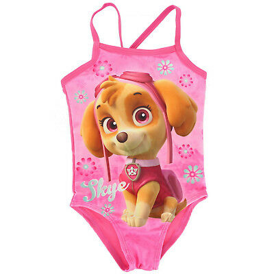 04385516fa Paw Patrol Skye Character Girls 1 Piece Swim Wear Surf Swimsuit Swimming  Costume