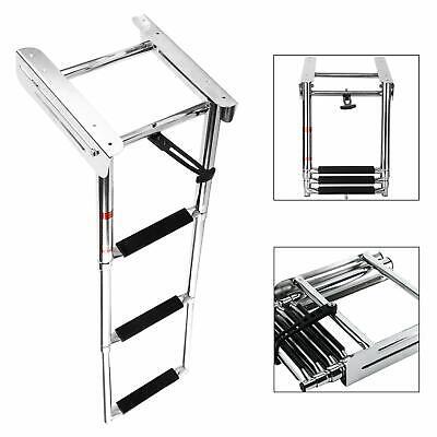 3 Steps Boat Ladder Marine Ladder Under Platform Ladder Mounting Screw