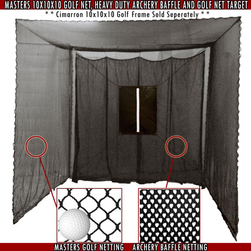 Golf Cage Practice Net & Baffle 10