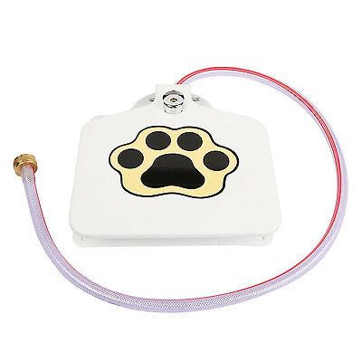 """Outdoor Trouble-Free Dog Pet Drinking Doggie Activated Water Fountain 41"""" Hose"""