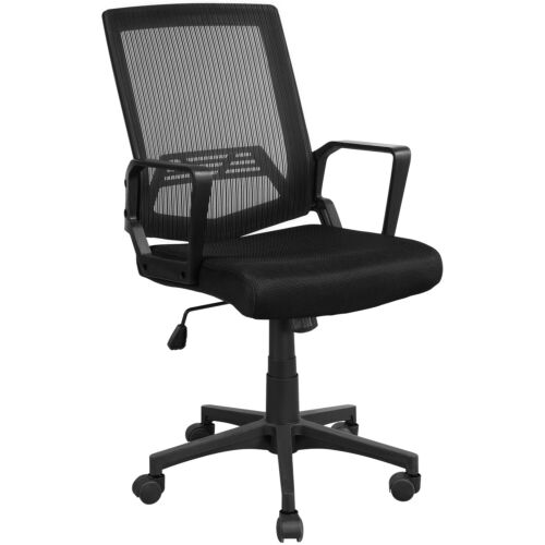Ergonomic Mesh Executive Chair Swivel Mid-Back Office Chair Computer Chair Black