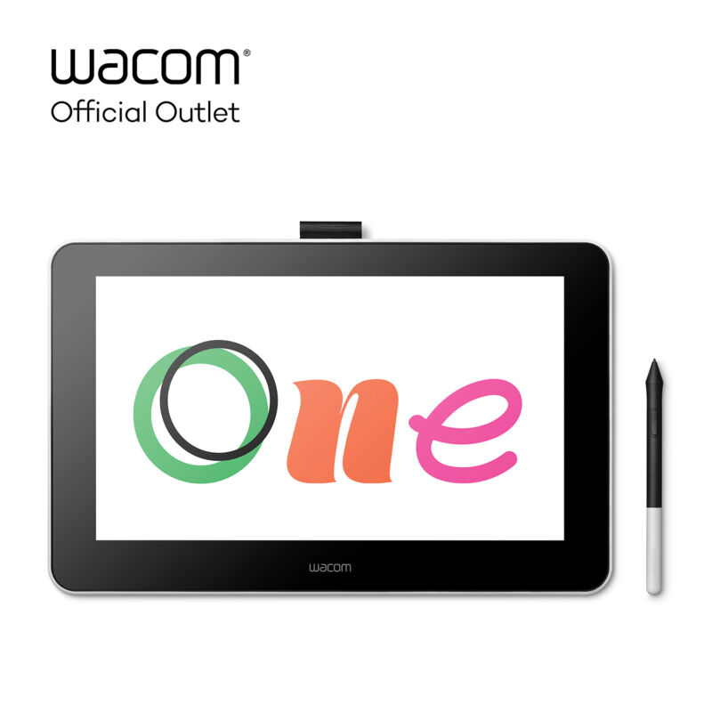 Used Wacom One Digital Drawing Tablet with Screen, 13.3 inch Creative Graphic...