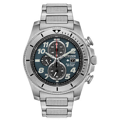 Citizen Eco-Drive Men's Chronograph Date Blue Dial Band 43mm Watch CA0720-54H