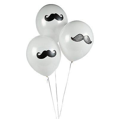 Mustache Latex Balloons Party Favors (12 Pieces)](Mustache Balloon)