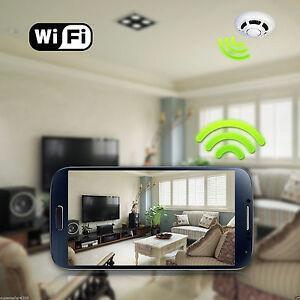 p2p alarm ip smoke detector wireless wifi camera home security system anti theft ebay. Black Bedroom Furniture Sets. Home Design Ideas