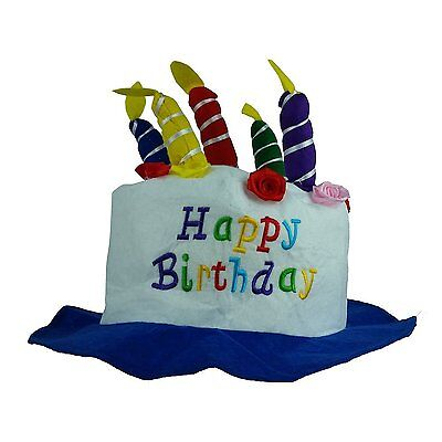Happy Birthday Hats (Fun Express Felt Childs Party Happy Birthday Cake Hat with Candles)
