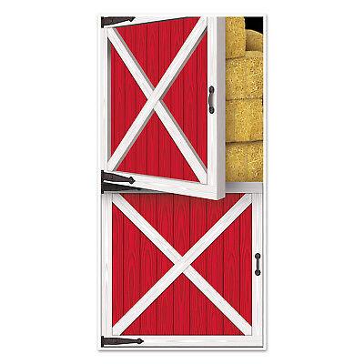 5 ft Red BARN DOORS 30