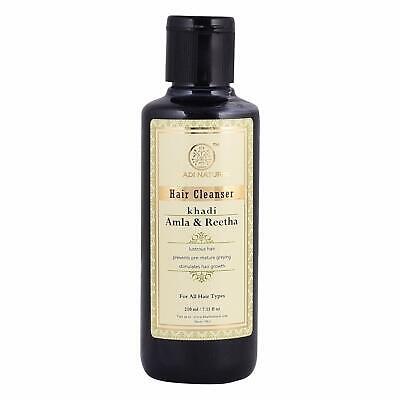 Khadi Natural Pure Herbal Amla & Reetha Shampoo, Anti Dandruff - 210ml ()
