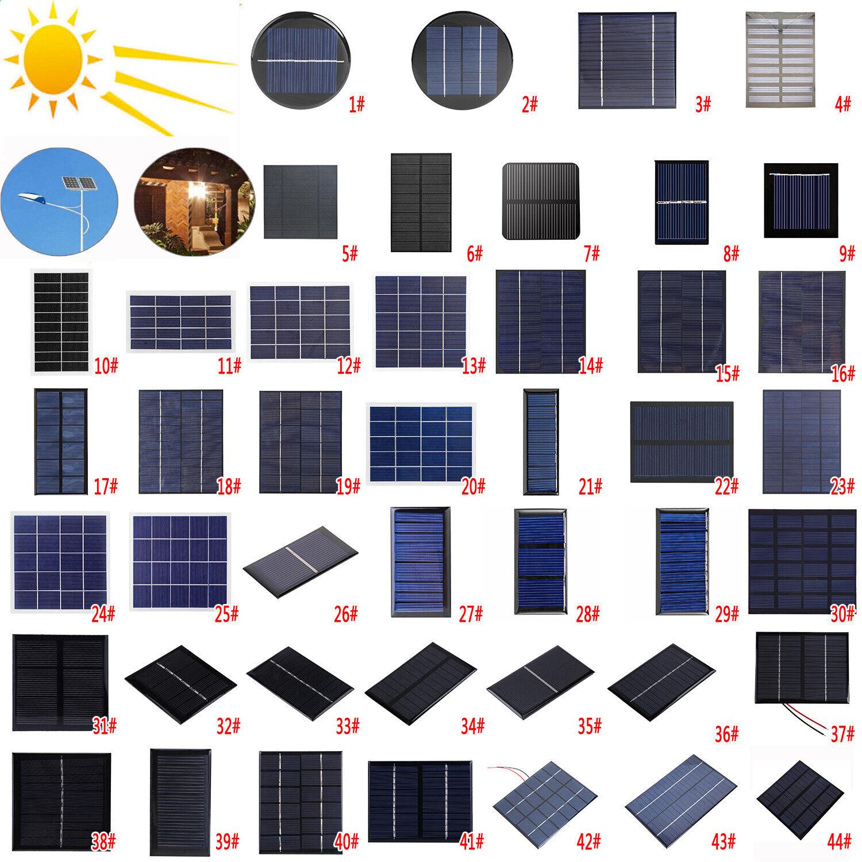 Solarmodul Solarpanel Solarzelle 0,5V 1V 1,5V 2V 3V 4V 5V 5,5V 6V 8V 10V 12V DE
