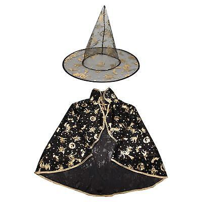 Halloween Costumes Witch Wizard Cloak with Hat Kids Boys Girls (Halloween Wizard Costumes)
