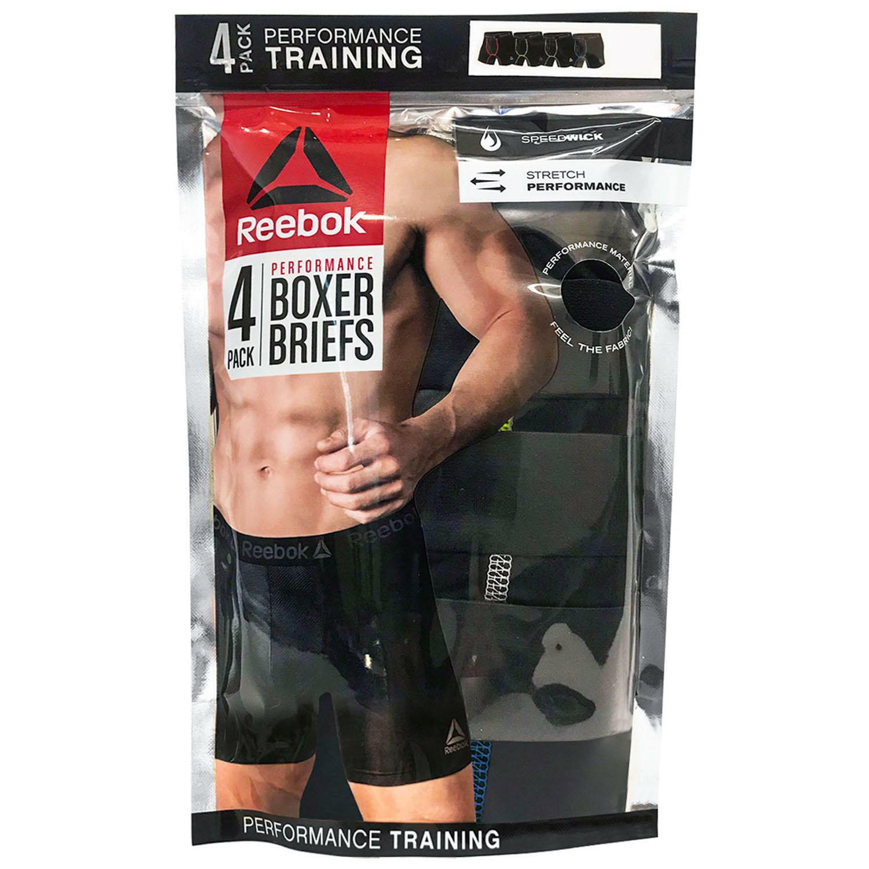 Reebok Men's 4 Pack Performance Boxer Briefs Size Medium 32-