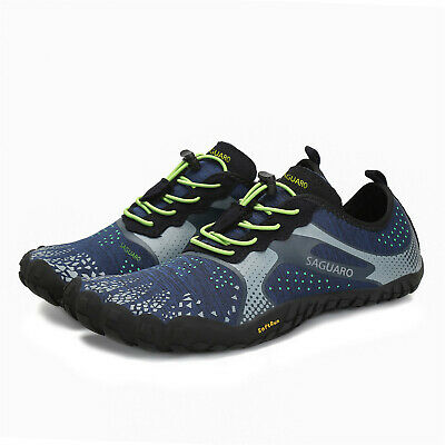 SAGUARO Blue Men Water Shoes Surf Barefoot Hiking Trail Running Walking Shoe US Spring Running Shoes