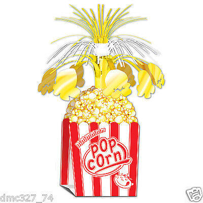HOLLYWOOD Movie Night Carnival Circus Party Decoration POPCORN CENTERPIECE