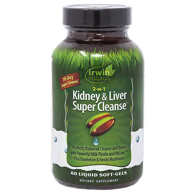 Irwin Naturals 2-in-1 Kidney and Liver Super Cleanse 60 Soft