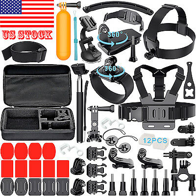 GoPro Accessories Kit for GoPro HERO session/5/4/3+/3/2/1 Cameras last 50 items