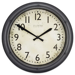 404-2630 La Crosse Clock Company 12 Plastic Analog Wall Clock - Metallic Finish