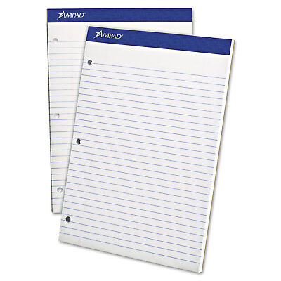 Ampad Legal Pad - Ampad Double Sheets Pad Legal/Wide 8 1/2 x 11 3/4 White 100 Sheets 20244