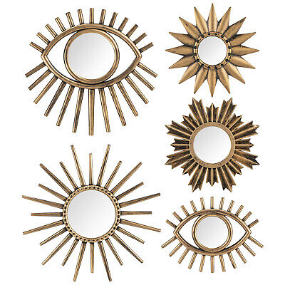 Mystical Bohemian Styling's 5 Farah Brushed Gold Mirrors - Brushed Gold