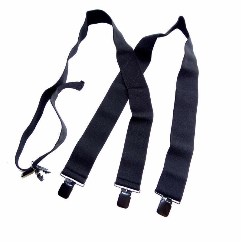 "Holdup Brand 2"" Wide Black Undergarment Hidden Suspenders wi"