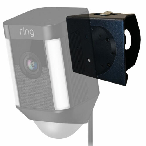 Adjustable Outdoor Metal Wall Mount for Ring Spotlight Cam Wired - Black 1Pack