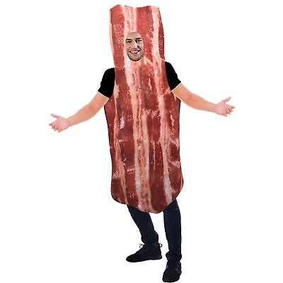 Bacon Fancy Dress Costume One Piece Funny Outfit Adults One Size Standard  (Bacon Outfit)