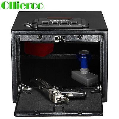 Ollieroo Gun Safe Solid Steel Quick Access Electronic Pistol Handgun Safe Box