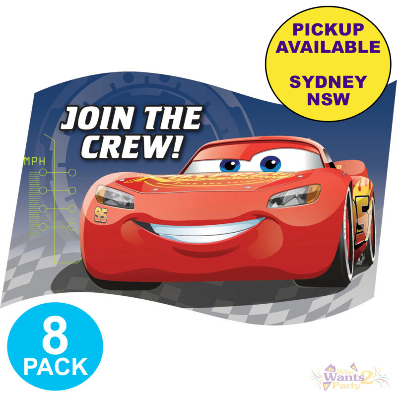 Details About DISNEY CARS 3 PARTY SUPPLIES 8 PACK INVITATIONS BIRTHDAY INVITES STICKERS SET