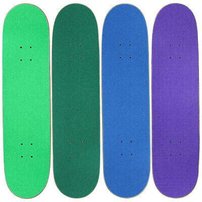 "4 Blank Skateboard Decks 8.0"" Natural Pre-Gripped Cool Colors BULK LOT"
