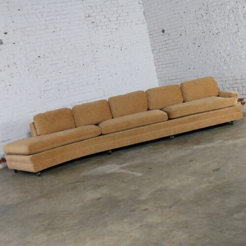 ON SALE! Extra Long Curved Single Arm Sofa Style of Harvey Probber